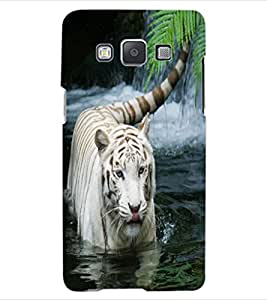 ColourCraft White Tiger Design Back Case Cover for SAMSUNG GALAXY A5 A500F