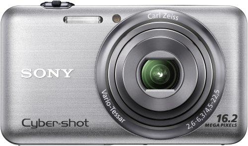 Sony DSC-WX7S Digitalkamera (16 Megapixel, 5-fach opt. Zoom, 3D-Schwenkpanorama, 10 Bilder/Sek, 7,1 cm (2,8 Zoll) Display) silber