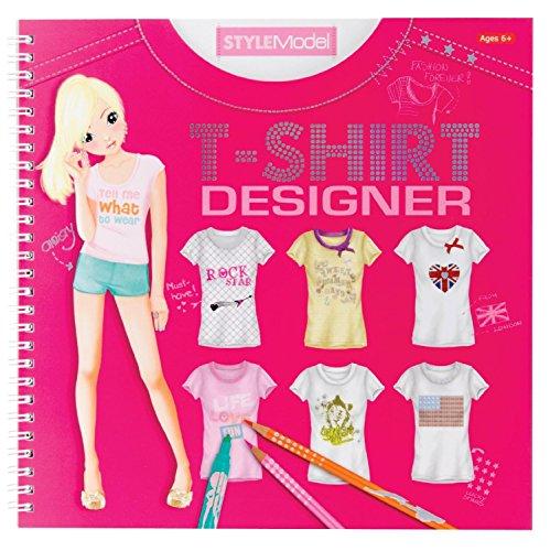 Imagen 7 de Depesche 7874 - Libro para colorear de diseños de camisetas para modelo - Top model t-shirt designer