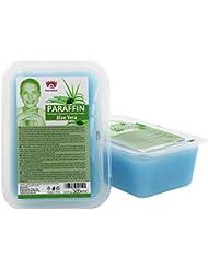 Kosmetex Paraffin-wachs, Paraffinbad Wachs mit niedrigeren Schmelzpunkt mit Aloe Vera Extrakt, 2x 500ml Aloe Vera
