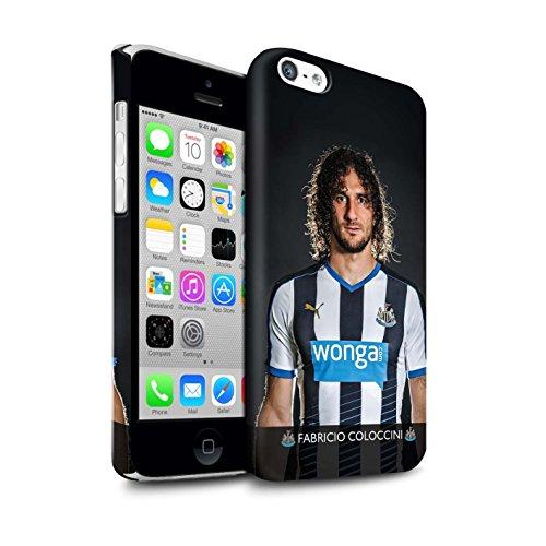 Offiziell Newcastle United FC Hülle / Matte Snap-On Case für Apple iPhone 5C / Pack 25pcs Muster / NUFC Fussballspieler 15/16 Kollektion Coloccini
