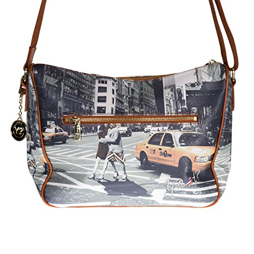 Y NOT? - Borsa donna a tracolla cartella g-370 new york walk in n.y.