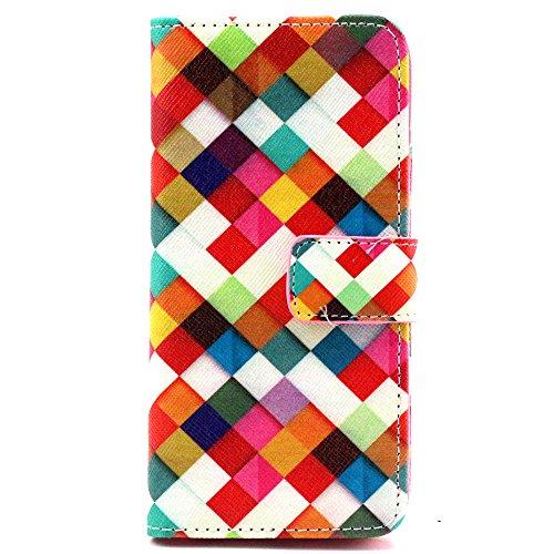 Più colorate Ancerson in pelle PU Flip Custodia Cover per Apple iPhone 64,7inch in pittura ad olio Stil Colorful Painting Flip Case Custodia in similpelle custodia per cellulare con supporto scompar Prisma