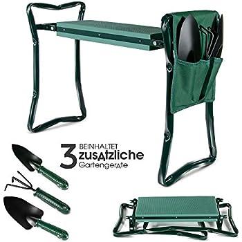 Gebo Kniebank Gartenhocker mit Knieschutz klappbar Kniestuhl Hocker