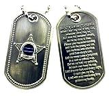 Best Deputy - Deputy Sheriff's Prayer Thin Blue Line Brushed Steel Review