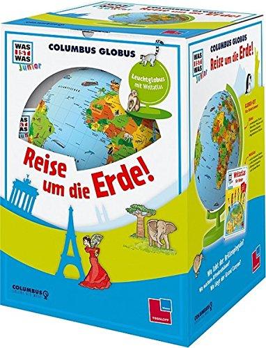 """Columbus Globus """"Reise um die Erde!"""": Leuchtglobus, Weltatlas und Begleitheft (WAS IST WAS Junior Edition)"""