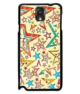 FUSON Designer Back Case Cover for Samsung Galaxy Note 3 :: Samsung Galaxy Note Iii :: Samsung Galaxy Note 3 N9002 :: Samsung Galaxy Note 3 N9000 N9005 (Vector Abstract Background Of Colorful 3D Stars)