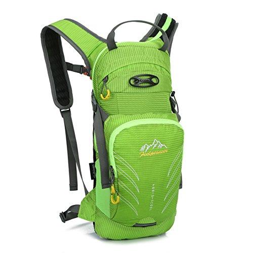 borsa a tracolla a cavallo Outdoor / sacchetto della bicicletta / borsa sportiva alpinismo / bag ultraleggero-viola 15L verde