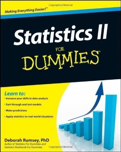 Statistics II For Dummies (For Dummies (Lifestyles Paperback)) by Rumsey, Deborah J. ( 2009 )