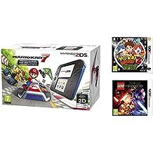 Consola Nintendo 2DS Azul + Mario Kart 7 + Yo-Kai Watch 2: Fantasqueletos + LEGO Star Wars: El Despertar De La Fuerza