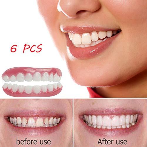 Perfect Instant Smile 6 STÜCKE Komfort Geeignet Für Flexible Zähne Oberen Und Unteren Bleaching Simulation Prothese Make-Up Furnier Dental Cover Beauty Tools (Prothesen Make Up)
