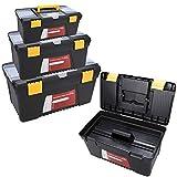 Joyda 3 teiliges Werkzeugkiste leer aus Kunststoff Werkzeugkoffer Werkzeugkisten Set