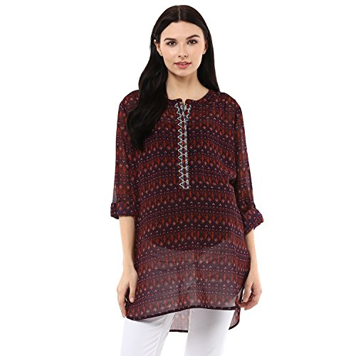 Wobbly Walk Women's Round Neck, Full Sleeves, Printed, Maternity Tunic