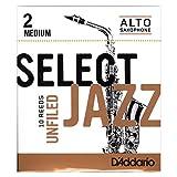 Rico Anches sélectionnées Rico Jazz pour saxophone alto, coupe à l\