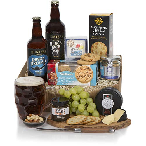 Birthday Hamper For Him - Craft Ale, Award Winning Cheese & More - Surprise Dad, Brother, Son, Boyfriend, Partner, Husband or even Grandad