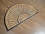 orientbazar24 Dekowe Türmatte Chic Halbrund 70 x 45 cm Kokosmatte mit Gummierterücken