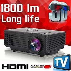 MU 2015 meilleure marque byintek mini projecteur Home Cinéma Vidéo TV LCD cinéma piCO HDMI Portable Fuli HD 1080p 3D LED Projecteur beamer