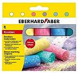 Eberhard Faber 526504 - Straßenmalkreide glitzer 6er Etui von Eberhard Faber