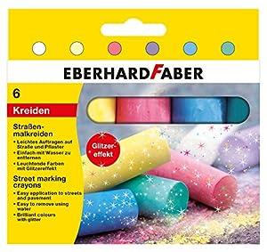 Eberhard Faber 526504-Calle Veces Tiza Purpurina Estuche de 6