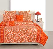 Swayam Orange Floss Sparkle Collection     DBS 1 Flat Sheet 1276