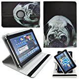 Mops Pug Hund Tablet Tasche Schutz Etui Hülle für 10 Zoll Jay-Tech / CANOX Tablet PC 101