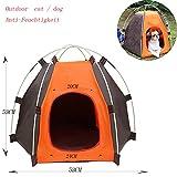 Amanni Casa de mascota, Casa de Gato Plegable, Tienda de Mascotas Portátil Impermeable para Perros Pequeños y Animales Interior y Exterior Pequeños Animales Refugio