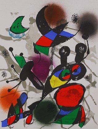 Joan Miro Litografia-litog Rafia originale II