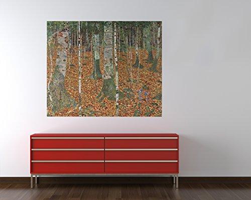 Vlies Fototapete Gustav Klimt - Alte Meister - Birkenwald - 80x65 cm - inklusive Kleister -...