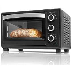 Cecotec Bake&Toast 550 Horno Eléctrico Multifunción de sobremesa, Puerta con Doble Cristal, Resistencias halógenas, Temperatura Hasta 230ºc Y Tiempo Hasta 60 Minutos, 23 litros, Negro