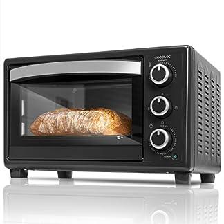 Cecotec Horno Conveccion Sobremesa Bake&Toast 550. Capacidad de 23 litros, 1500 W, 3 Modos, Temperatura hasta 230ºC y Tiempo hasta 60 Minutos, Incluye Bandeja Recogemigas