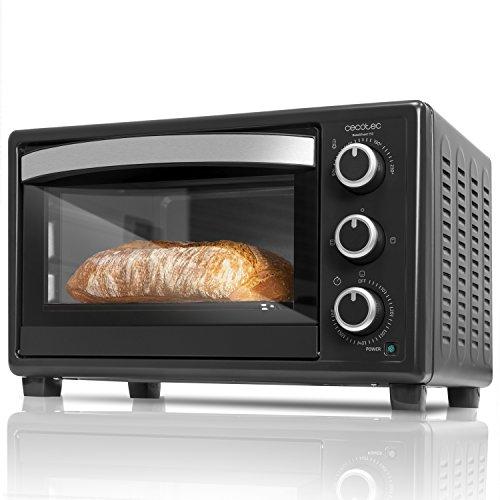Cecotec Bake&Toast 550 Horno Eléctrico Multifunción de sobremesa, Puerta con Doble Cristal,...