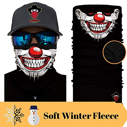[ Winter-Fleece] Bedrucktes Multifunktionstuch Bandana Halstuch Kopftuch: Face Shield- Material ist flexibel und atmungsaktiv - Maske fürs Motorrad-, Fahrrad- und Skifahren
