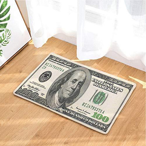 Asbjxny Dollar-Fußmatten-Bad-Matten-Badezimmer-Wolldecken-Küchen-Wolldecken für Inneneinrichtung JHY1226