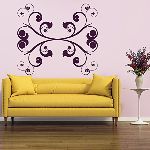 Bold simmetrico Ferro Battuto Floral Design Wall