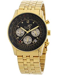 Ingraham Herren-Armbanduhr XL Atlanta Chronograph Quarz Edelstahl beschichtet IG ATLA.1.612207D