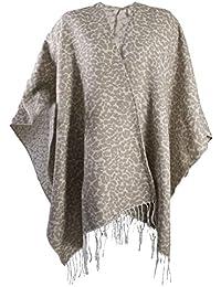 Lora Dora Womens Warm Winter Shawl Poncho Wrap Knitted Cape Tassel Scarf Throw One Size