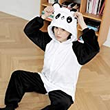 QINCH Home Erwachsene Schlafanzüge - Plüsch Cosplay Tierkostüm Winter Verdickung Freizeitbekleidung (Color : Panda, Size : Small)