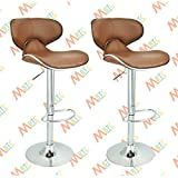 MBTC Horse Cafeteria Bar Stool Chair in Beige Color ( Set of 2 )