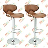 #2: MBTC Horse Cafeteria Bar Stool Chair in Beige Color ( Set of 2 )