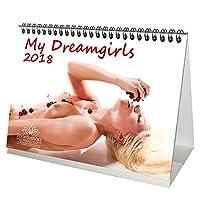 Premium Table Calendrier/2018 - DIN A5 - My Girl - My Dreamgirls - Femmes - sexy - Coffret Cadeau avec 1 carte de vœux et 1 Carte de Noël - Edition âme magique