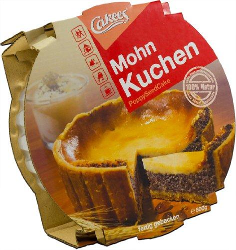 Cakees MohnKuchen mit Rahmdecke, fertig gebacken, 2er Pack (2 x 500 g)