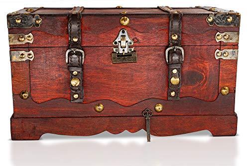 Thunderdog New York – Piraten-Schatztruhe mit Schloss, 50x25x28cm - 2