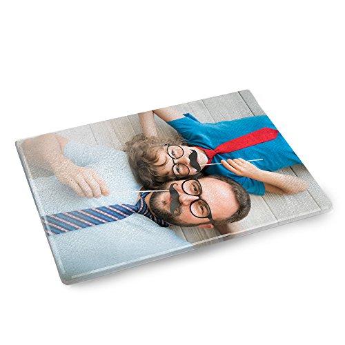 Personello Schneidebrett aus Glas, personalisierbar mit eigenem Foto, Glasschneidebrett selbst gestalten, Geschenke für die Küche, Fotogeschenk
