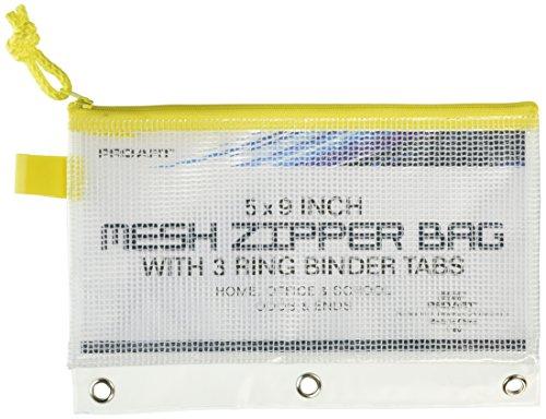 Pro-Art PRO-7180 Tasche aus Mesh und Vinyl mit Reißverschluss 5-inch x 9-inch Mesh Bag with Zipper, 3-Ring Binder