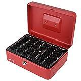 HMF 208-03 Caja de caudales, para monedas 25 x 18 x 9 cm, rojo
