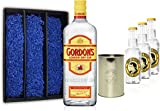 Gin Tonic Set Geschenkset - Gordons London Dry Gin 70cl (37,5% Vol) + 3x Thomas Henry Tonic Water 200ml + Becher -[Enthält Sulfite]
