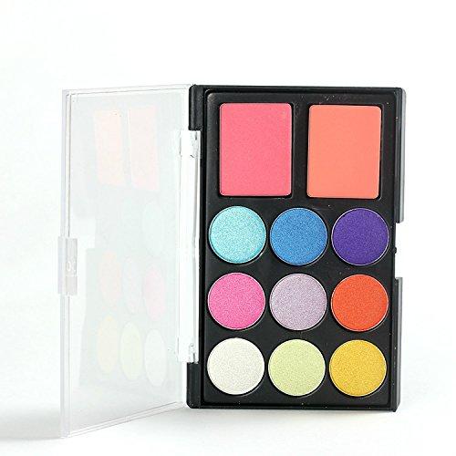 Pure Vie® 11 Couleurs Fard à Paupières Correcteur et Fard à Joues Palette de Maquillage Cosmétique Set #3 - Convient Parfaitement pour une Utilisation Professionnelle ou à la Maisons