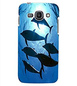 ColourCraft Dolphins Design Back Case Cover for SAMSUNG GALAXY ACE 3 3G S7270