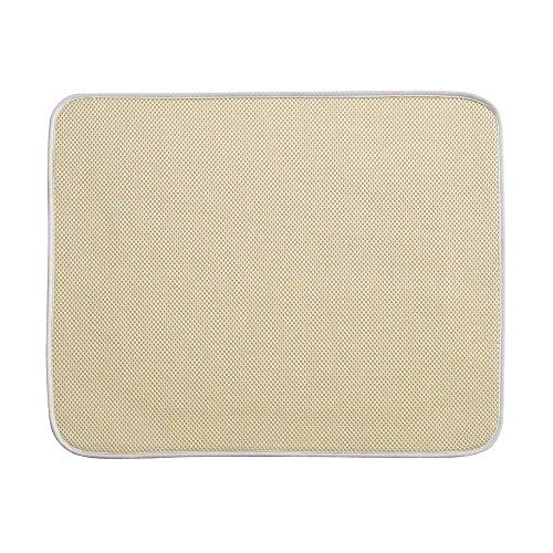 iDesign iDry Abtropfmatte groß, dünne Spülbeckenmatte aus Polyester zum schnellen Trocknen von Geschirr, weizen-/elfenbeinfarben - Usa Besteck Made In