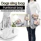 Poppypet Transporttasche für kleine Hunde und Katzen, hundetaschen für kleine hunde, tragetasche katze, Oxford Tuch Single-Schulter Sling, Gre - 2
